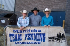 MTPA FINALS Brandon, Manitoba Septembr 19 & 20, 2015 # 7 CLASS 2nd Place L - R Rachel Penner, Shawn Parsons, Courtney Davies