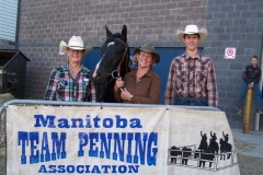 MTPA FINALS Brandon, Manitoba September 19 & 20, 2015 # 5 CLASS WINNERS L - R Arlene Bruneau, Betty Chalanchuk, Bret Greer